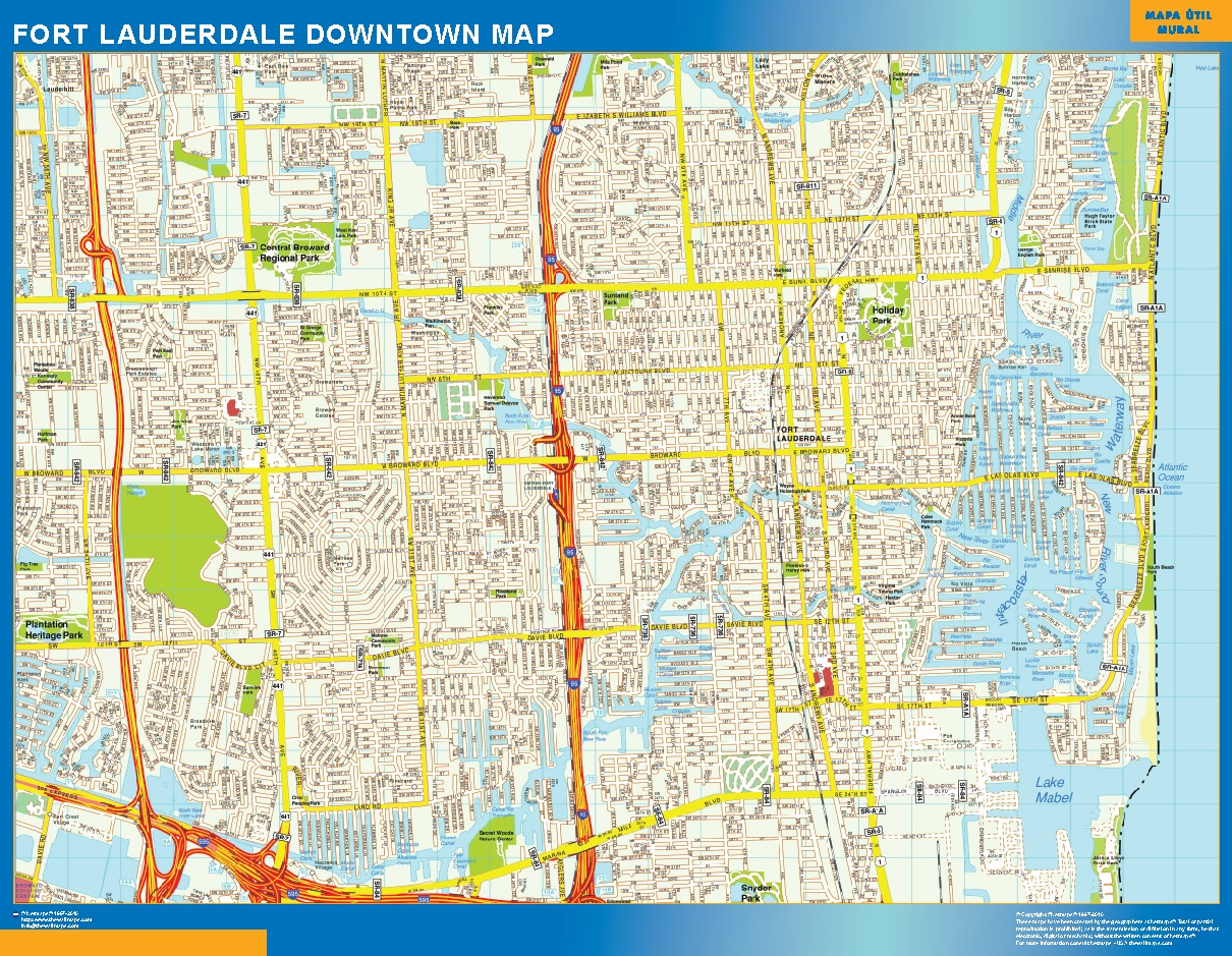 Fort Lauderdale Mapa Centro