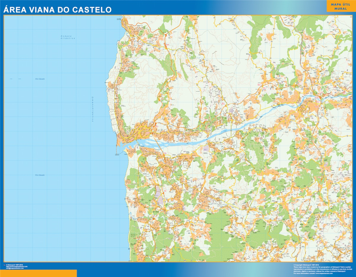 Mapa Viana Do Castelo Area